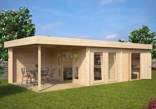 Hansa24 group premium garden log cabins - Garden summer houses with verandas ...