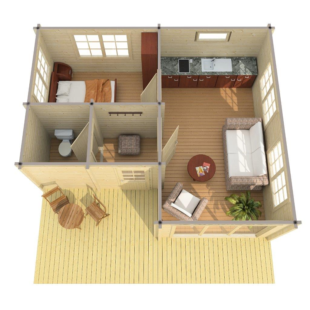 log cabin alabama 30m 5 5 x 6 5 m 70mm hansa24 group. Black Bedroom Furniture Sets. Home Design Ideas