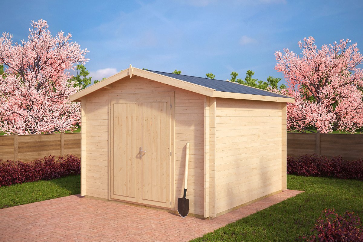 Garden shed nora a 8 5m 3 2 x 3 2 m 40mm hansa24 group for Garden shed 2 x 2
