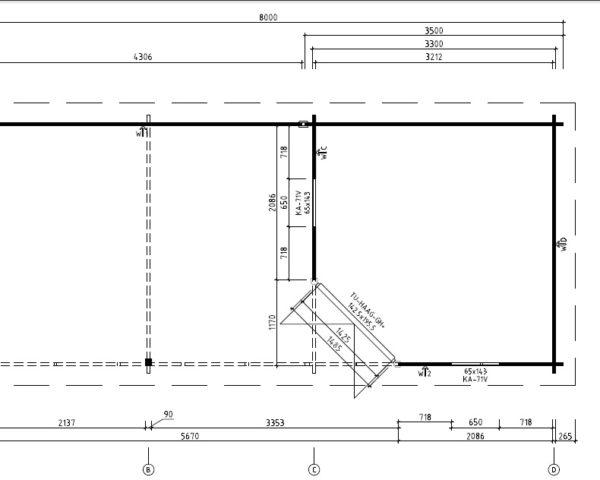 Summer house Sophia 10m 8 x 35 m 44mm Hansa24 Group
