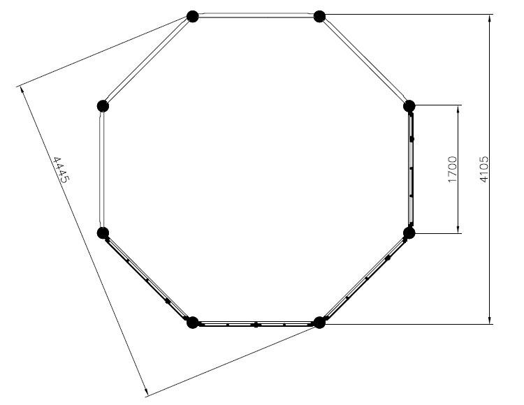 octagonal summer house seattle xl 14m 4 4 x 4 4 m 55 mm