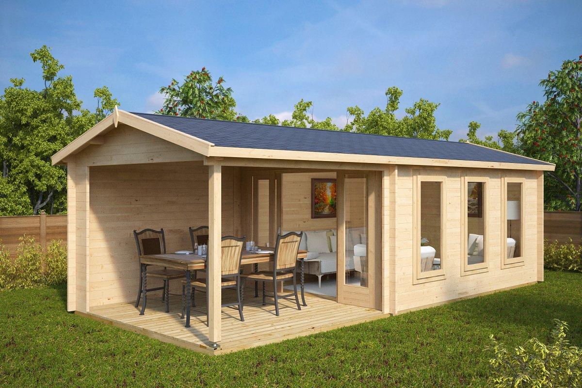 summer house eva e with veranda - Garden Sheds With Veranda