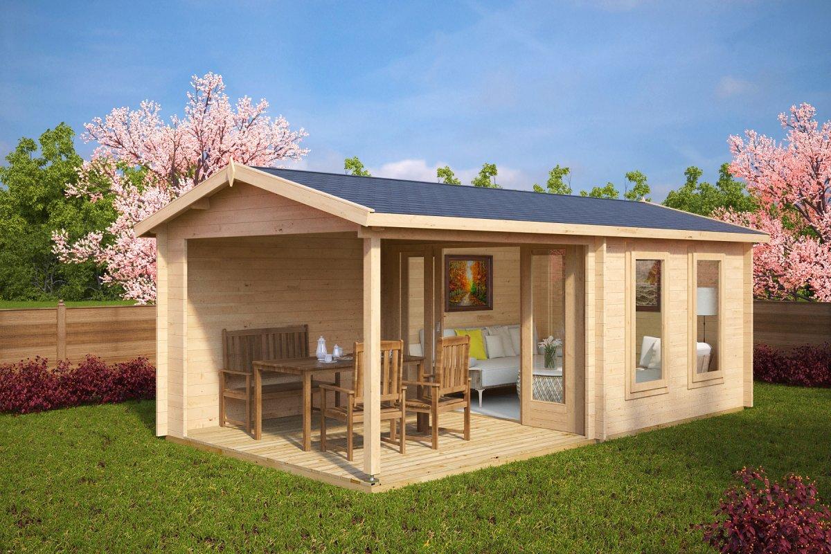 summer house nora e with veranda - Garden Sheds With Veranda