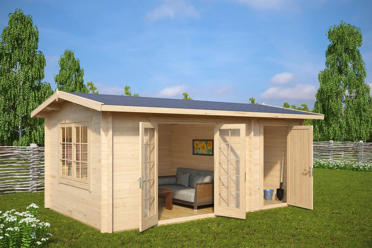 Gartenhaus 3 X 2 : summer house with shed super fred 15m 44mm 5 x 3 m ~ Watch28wear.com Haus und Dekorationen
