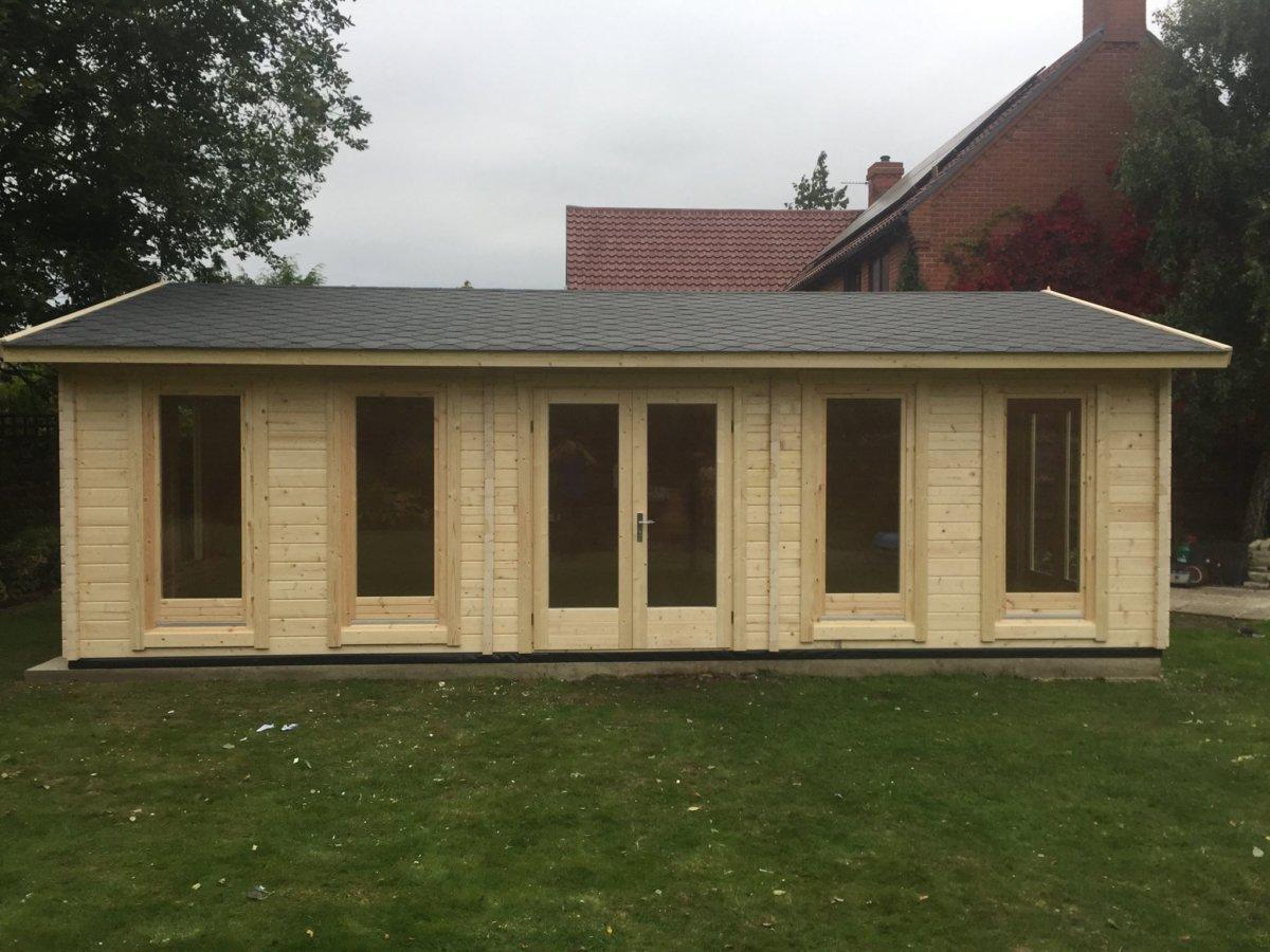 Garden Room D 38m² / 70mm / 8 x 5 m - Hansa24 Group