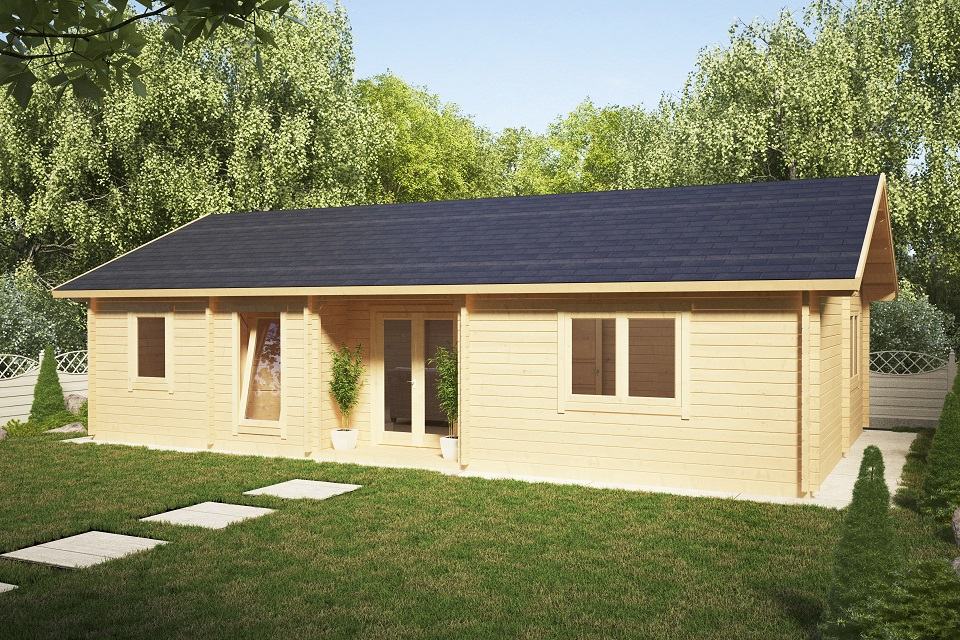 two bedroom residential cabin dune 70m2  70mm  12 x 6 m