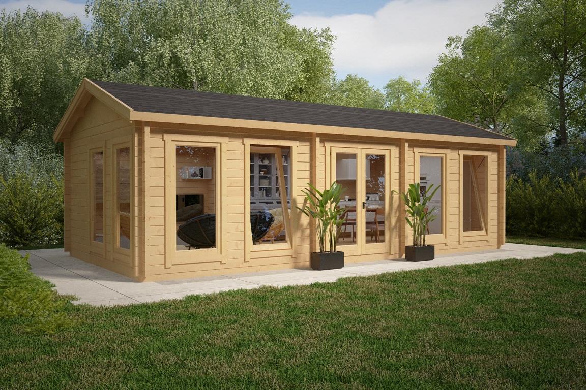 garden room c 30m 70mm 8 x 4 m hansa24 group. Black Bedroom Furniture Sets. Home Design Ideas