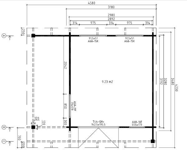 Mini Hansa Lounge Ground Plan